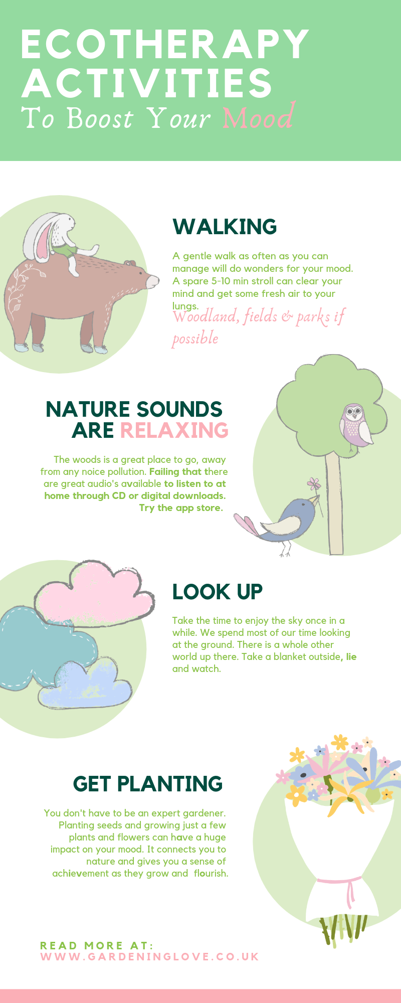 ecotherapy activities to boost your mood