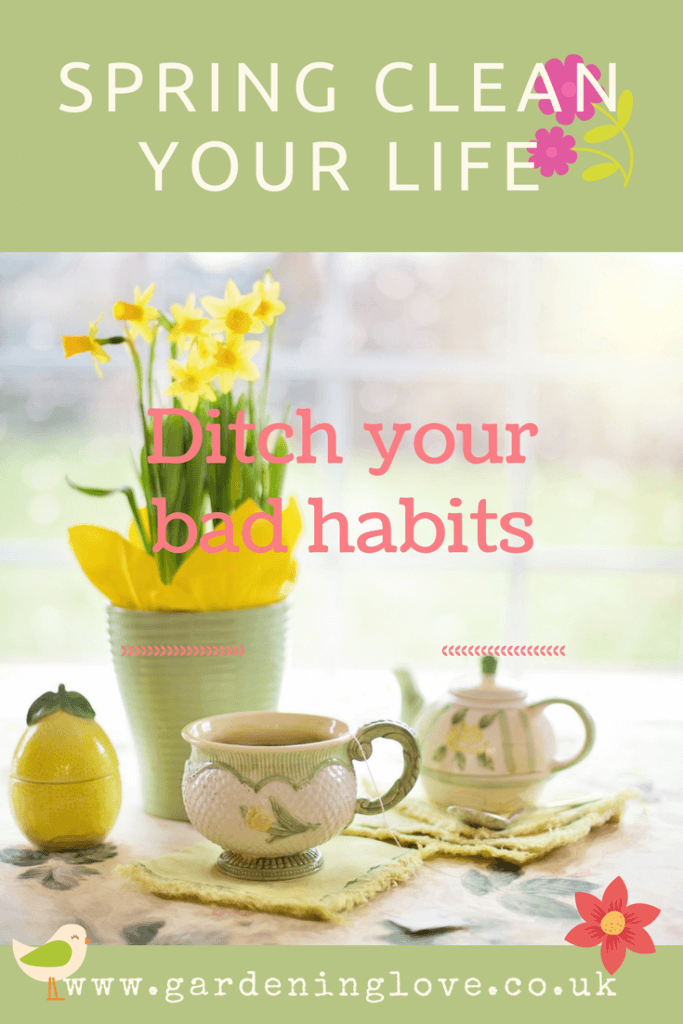 Springtime, a time for fresh starts and changes. Now is the time to ditch the bad habits and springclean your life