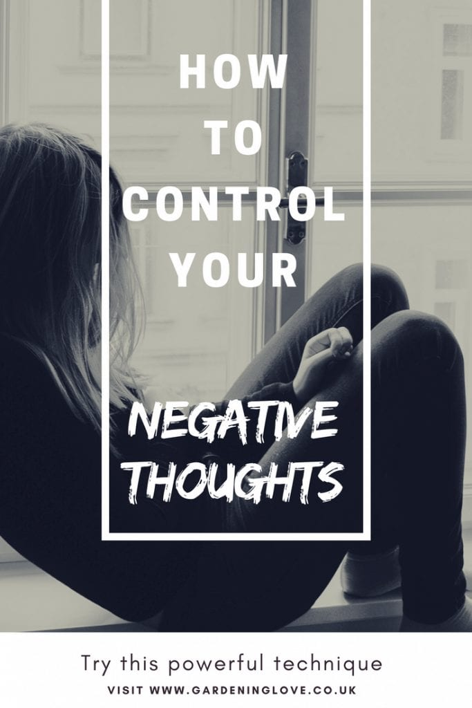 Stop negative thinking with this one powerful technique. Learn how to control your negative thoughts #anxiety #mindfulness #positivity #positivethinking
