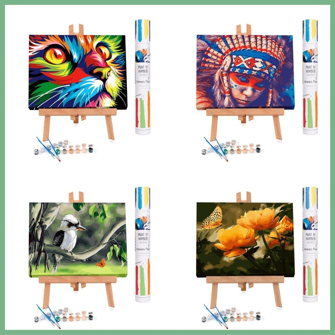 Paint by numbers for adults. A therapeutic way to reduce stress levels. #paintbynumbers #art #creativity #affiliatelink.
